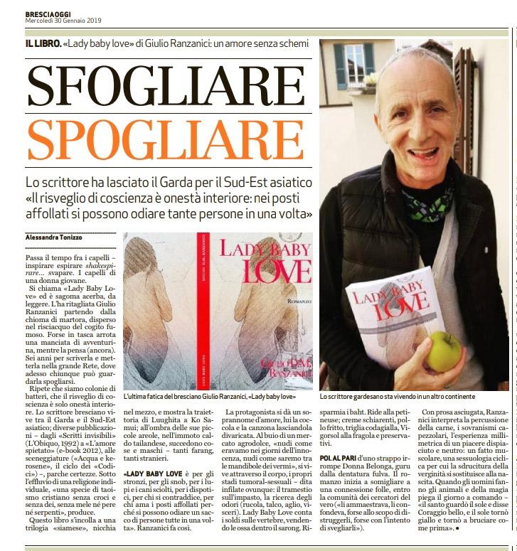 La recensione di Lady Baby Love sul giornale Bresciaoggi